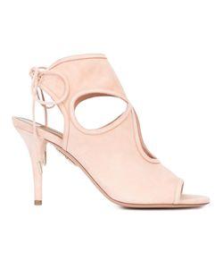 Aquazzura | Cut-Off Detailing Lace-Up Sandals 40 Suede/Leather