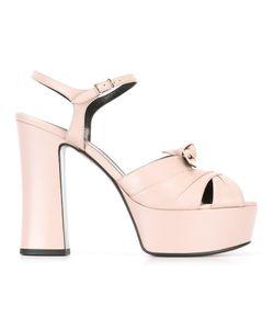 Saint Laurent | Candy 80 Bow Sandals 36 Leather