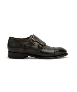 Silvano Sassetti | Buckled Monk Shoes 10 Leather/Rubber