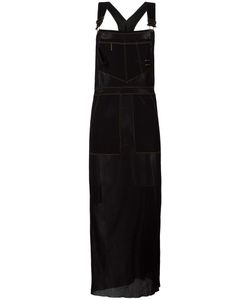 JEAN PAUL GAULTIER VINTAGE | Sheer Dungaree Apron Dress Medium