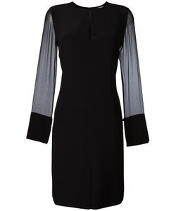 Givenchy | Sheer Sleeve Shift Dress 42 Silk/Acetate