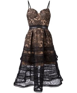 SELF-PORTRAIT | Lace Flared Dress 8 Polyamide/Polyester
