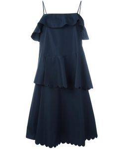 See By Chloe | See By Chloé Scalloped Tiered Dress 42 Cotton