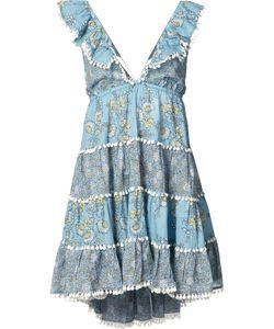 Zimmermann | Tiered Mini Dress 0 Cotton