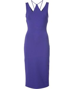 David Koma | Cut-Off Neck Detailing Dress 14 Polyester/Spandex/Elastane/Viscose