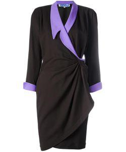 THIERRY MUGLER VINTAGE | Gathered Wrap Dress 38
