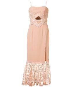 Jonathan Simkhai   Cut-Off Detailing Mid Dress 4 Spandex/Elastane/Silk/Acetate/Viscose
