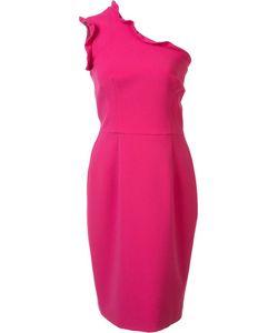 Black Halo | Ruffled Single Shoulder Dress 8 Polyamide/Spandex/Elastane/Viscose/Polyimide