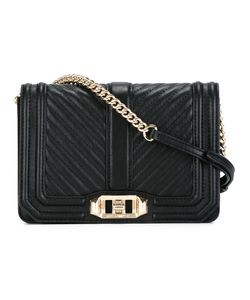 Rebecca Minkoff | Ribbed Trim Cross Body Bag Leather/Polyester