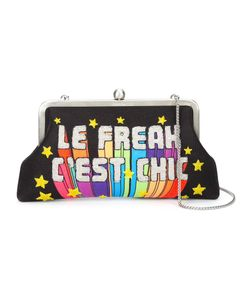 Sarah's Bag | Sarahs Bag Le Freak Cest Chic Embellished Clutch Brass/Microfibre