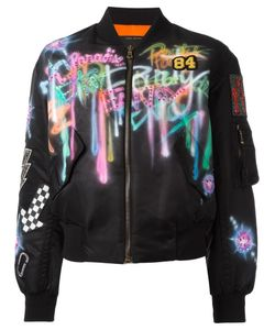 Marc Jacobs | Airbrushed Shrunken Bomber Jacket Small Nylon