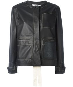 Loewe | Embossed Logo Biker Jacket 36 Leather/Cotton