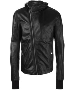 Rick Owens | Hooded Leather Jacket 54 Leather/Cupro/Cotton
