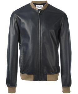 Loewe   Zipped Bomber Jacket 46 Lamb Skin/Cotton