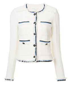 Veronica Beard | Contrasting Detail Jacket 12 Cotton/Nylon/Spandex/Elastane