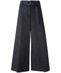 Maison Margiela | Wide-Legged Cropped Trousers 42 Cotton/Spandex/Elastane