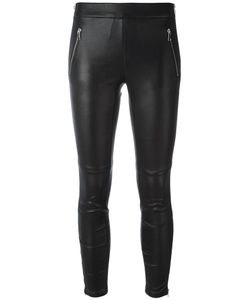 Alexander McQueen | Cropped Leggings 40 Lamb Skin/Cotton/Spandex/Elastane