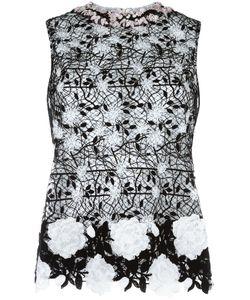 Giambattista Valli | Embroidery Top 42 Cotton/Polyester/Polyamide/Silk