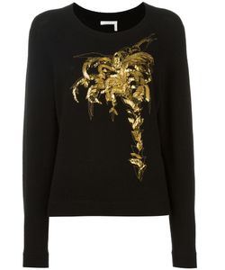 Chloe | Chloé Sequin Embroidered Jumper Xs Wool/Cashmere/Brass/Polyester