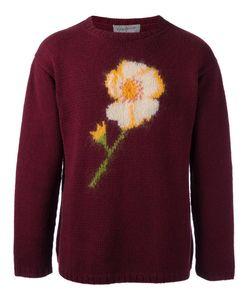 YOHJI YAMAMOTO VINTAGE | Flower Intarsia Knit Jumper Medium