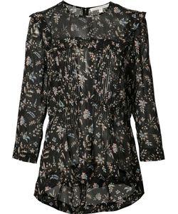 Veronica Beard | Print Sheer Blouse 4 Silk