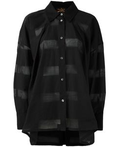 Vivienne Westwood Anglomania | Striped Sheer Shirt Small Cotton/Polyamide