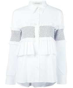 Cedric Charlier | Cédric Charlier Ruffled Panel Shirt 40 Cotton/Other Fibers