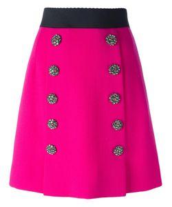 Dolce & Gabbana | Jewel Buttoned A-Line Skirt 38
