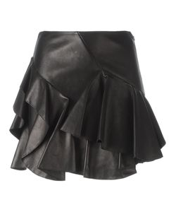 Alexander McQueen | Ruffled Mini Skirt 42 Cotton/Lamb Skin