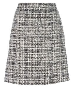 Lanvin | Tweed Checked Skirt 36 Cotton/Polyester/Viscose/Silk