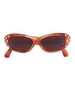 CLAUDE MONTANA VINTAGE | Studded Oval Sunglasses