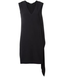 Helmut Lang | Elongated Detailing V-Neck Dress Medium Viscose/Acetate/Silk