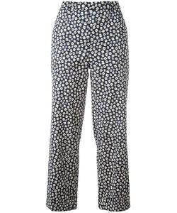 Christian Wijnants | Printed Trousers 40 Ramie/Spandex/Elastane/Viscose