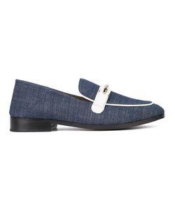 Newbark   Denim Slippers 7 Lamb Skin/Leather/Cotton