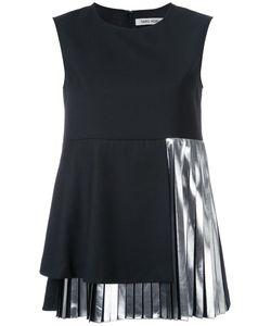 TARO HORIUCHI | Pleated Hem Top Polyester/Rayon/Wool/Polyethylene
