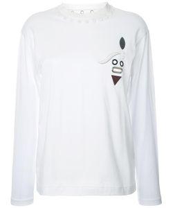 Toga | Eyelet Detail T-Shirt 38 Cotton