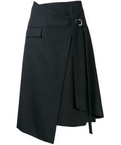 TARO HORIUCHI | Layered Wrap Skirt Polyester/Wool