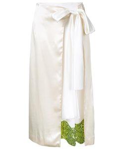 Toga | Sequined Hem Wrap Skirt 36 Rayon/Acetate