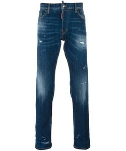 Dsquared2 | Sexy Twist Distressed Bleach Jeans 46 Cotton/Spandex/Elastane/Polyester