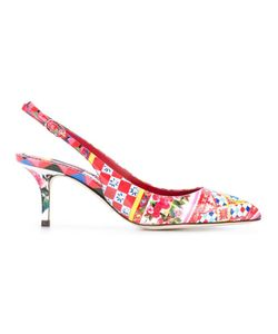 Dolce & Gabbana   Bellucci Sling-Back Pumps 39 Patent Leather/Leather