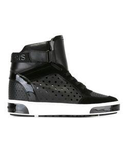 Michael Michael Kors | Lasered Hi-Top Sneakers 7.5 Calf