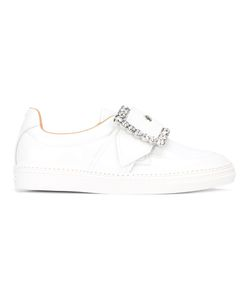Maison Margiela | Embellished Buckle Sneakers 38 Patent Leather/Leather/Rubber/Glass