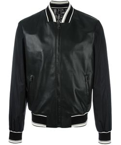 Dolce & Gabbana | Leather Bomber Jacket 52 Polyamide/Sheep