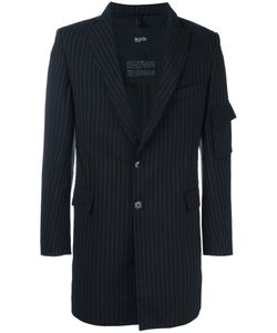 Blood Brother | Zip Detail Striped Blazer Large Wool