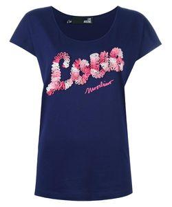 Love Moschino   Logo Print T-Shirt 42 Cotton/Modal