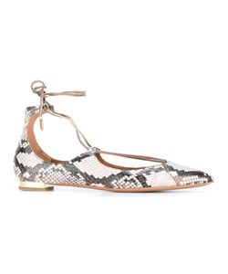 Aquazzura | Lace-Up Ballerinas 37.5 Leather