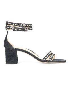 Marion Parke | Eyelet Detail Denim Sandals 37.5 Cotton/Leather
