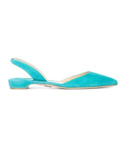 Paul Andrew | Sling-Back Pointed Ballerinas 38.5 Suede/Leather