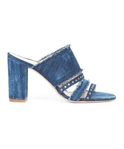 Marion Parke | Lenny Denim Sandals 40 Cotton/Leather