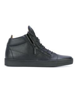 Giuseppe Zanotti Design | Zipped Hi-Tops 43 Leather/Rubber